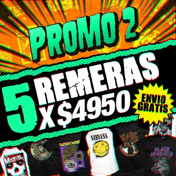 Promo 5 Remeras X $ 4950 + Envio Gratis