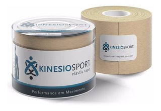 Bandagem Elástica Adesiva - Kinesio Sports Kinesiology Bege