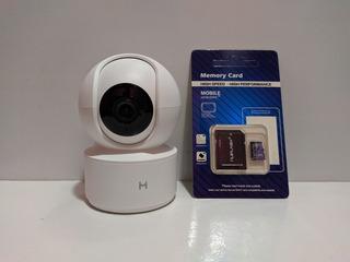 (+ Cartão Sd 32gb) Câmera Babá Eletronica Segurança Xiaomi Mijia Ip Hd 1080p Wifi Visão Noturna