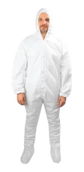 Overol Desachable Blanco Traje Tipo Tyvek Polietileno