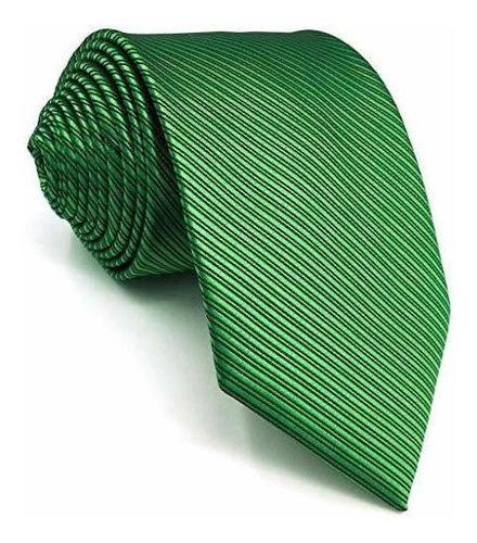 Imagen 1 de 4 de Shlax Lazos Ala Flaco Color Sólido Corbatas Seda Verde  Ho