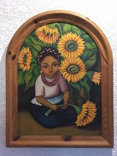 Pintura Óleo Girasoles México