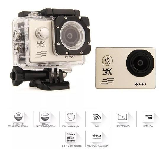 Câmera Action Sport Ultra 4k Wifi Full Hd 1080p Prova Dágua