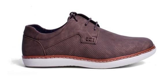 Calzado Cubavera Zapato Oxford Para Hombre Color Café Mate