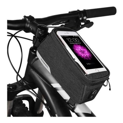 Imagen 1 de 3 de Bolso Bicicleta Porta Objetos Y Celular Roswheel Ros021