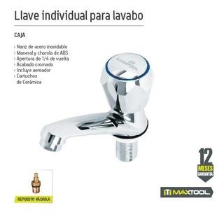 Llave Individual Para Lavabo Maxtool 308306