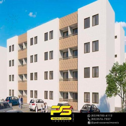 Apartamento Com 2 Dormitórios À Venda, 53 M² Por R$ 169.000 - Bancários - João Pessoa/pb - Ap3119