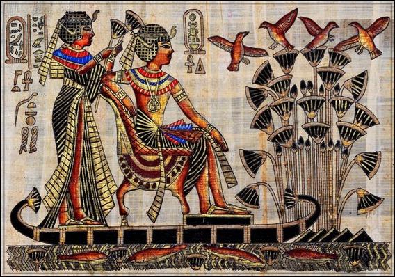 Poster Foto Egito 65x100cm Hieroglifo - Enfeite Pra Quarto