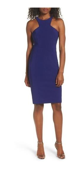 Elegante Vestido Talla O De Xscape Color Azul