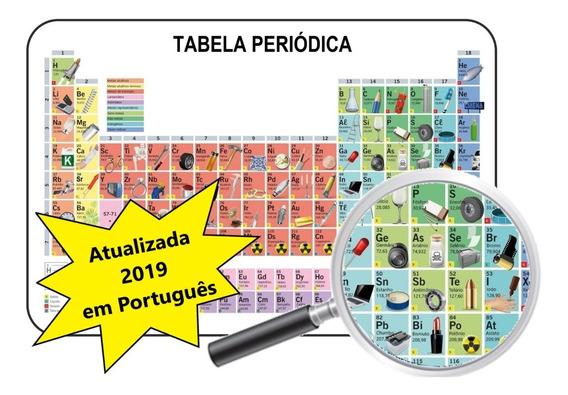 Tabela Periódica Elementos Químicos 2019 Ilustrada 60x40 Cm