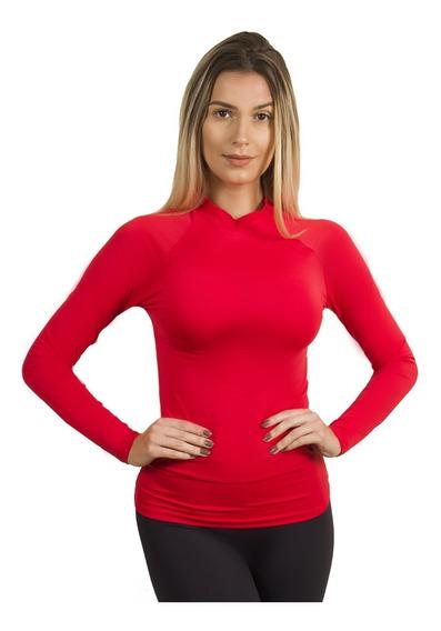 Blusa Térmica Feminina Segunda Pele Proteção Uv Compressão