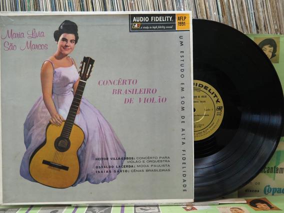 Maria Lívia São Marcos Concerto Brasileiro De Violão Lp
