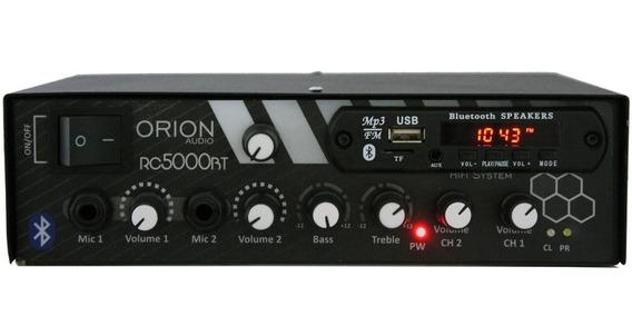 Amplificador Rc5000 300w Som Ambiente Orion Bluetooth