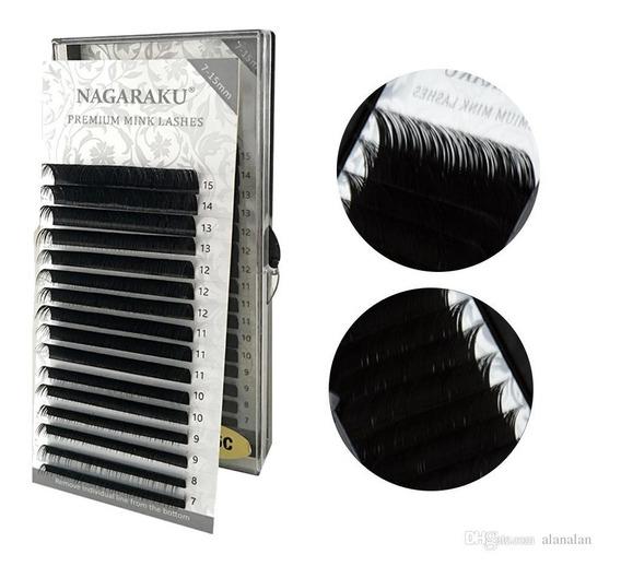 Cílios Nagaraku Premium Mink Mix C D 7-15mm Fio A Fio