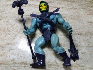 Esqueleto He Man Estrela Anos 80,boneco Antigo Com O Cajado