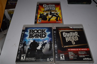 Rock Band Guitar Hero World Tour Y 5 Ps3 Completos