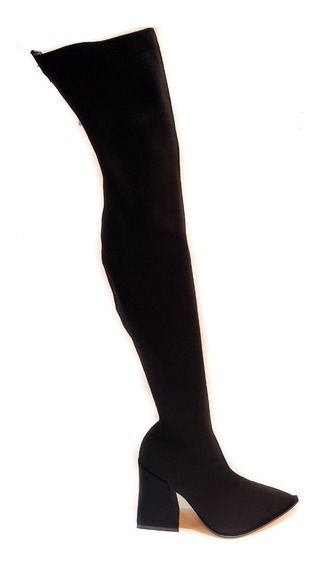 Botas De Mujer Luciano Marra 7711 Streech Negro
