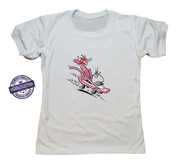 Remera Blanca Pantera Rosa Pink Mod 4 Hotarucolections
