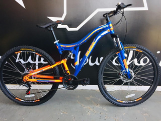 Bicicleta Mountain Bike Sbk Doble Suspension 21 Veloc.