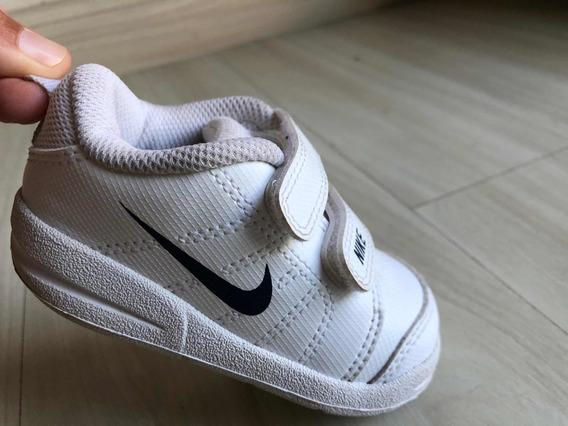 Tênis Nike Infantil Unissex Branco Couro