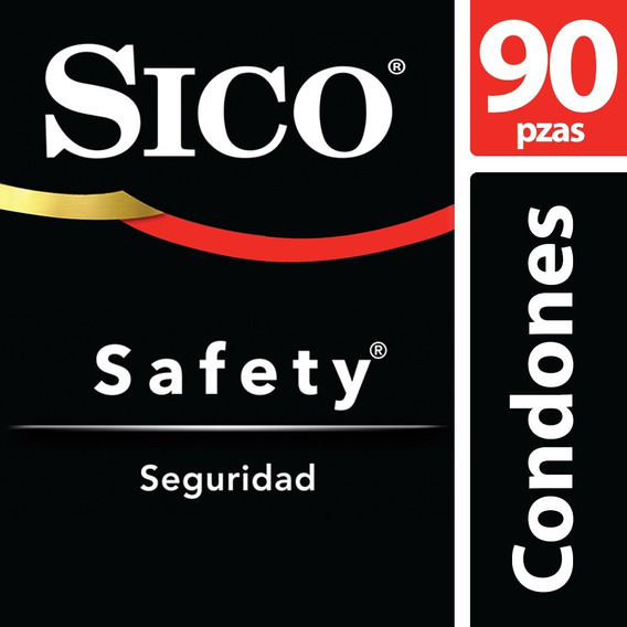 Kit Condones Látex Natural Safety Liso 90 Piezas Sico