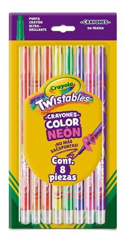 Imagen 1 de 3 de Crayones Twistables Crayola Color Neon 8 Piezas