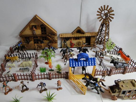 Brinquedo Super Fazenda Chacara Sitio Forte Apache Gulliver