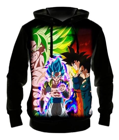 Blusa Moletom Goku E Vegeta Vs Broly Ml001- Casaco Frio