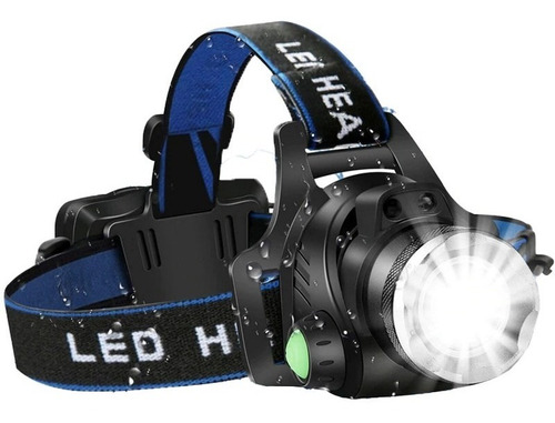 Lanterna De Cabeça T6 Led Cree Tatica Profissional Zoom + Nf