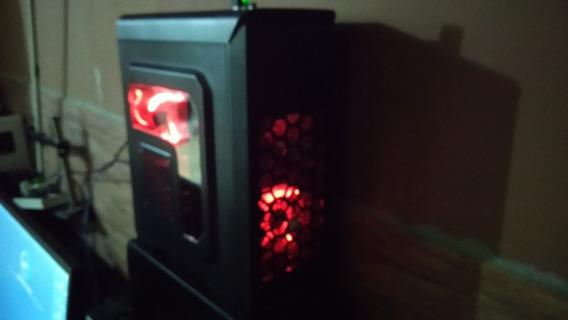 Computador Gamer Led Red Intel I5 7400 + Gtx 1050ti + Games
