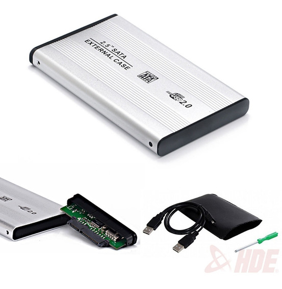 Carry Case 2.5 Sata Para Disco Rigido Notebook Aluminio Usb