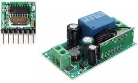 Relé Rf + Minicontrole 433mhz Eletrônica, Arduino, Automação