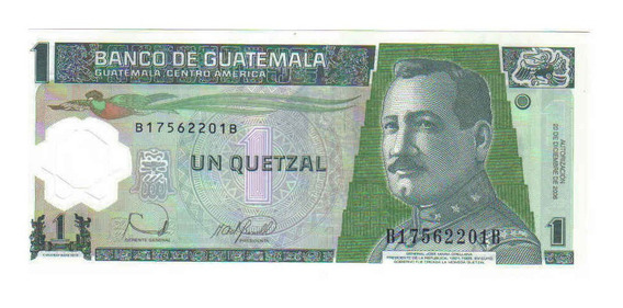 Guatemala - 1 Quetzales De 2.006 - Plástica - Fe