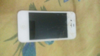 iPhone 4 Com Tela Frontal E Traseira Quebrada