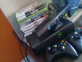 Console Xbox 360, 30 Jogos, 2 Controles, Kinect