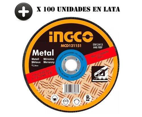 Set 10 Latas Total 100 Discos 1.2m Corte Metal Amoladora 4½