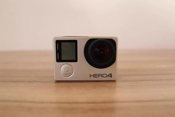 Câmera Go Pro Hero 4 4k 12mp + Kit Com Acessórios Semi Nova