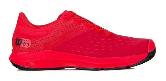 Tenis Wilson Kaos 3.0 Sft Clay Masculino Vermelho Coral