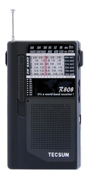 Rádio Receptor Tecsun R-808 Am Fm Sw Ondas Curtas Multiband