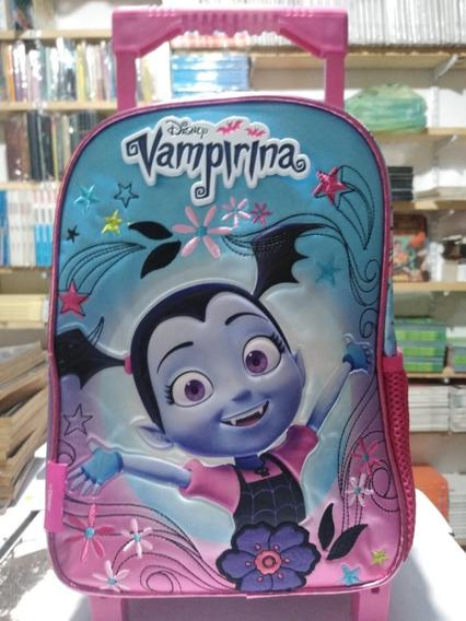 Mochila Con Ruedas Vampirina Disney Cresko 12 1 Cierre