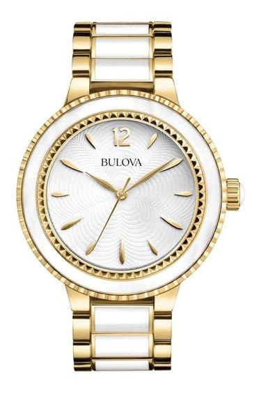 Promoção Black Week! Relógio Bulova Original Em Aço/couro