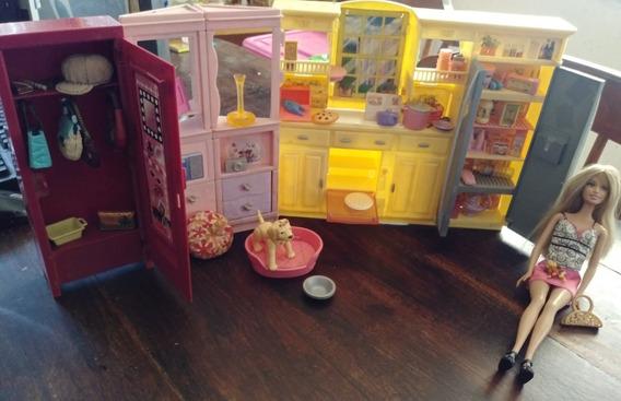 Barbie Orginal Mattel. Cocina Y Ropero. Con Accesorios