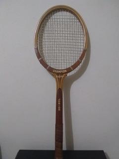 Raquete De Tênis Madeira