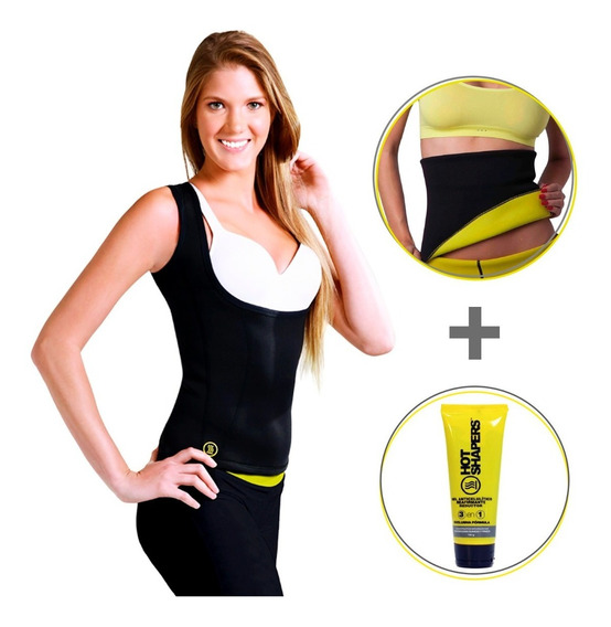Faja Hot Shapers Camihot Talla M +cinturilla Lisa Lxl + Gel