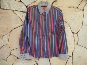 Camisa Social Dudalina Listrada - Algodão Egípcio - Tam 40