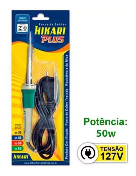 Ferro De Solda Hk Plus Hikari Profissional Sc-60 50w 127v