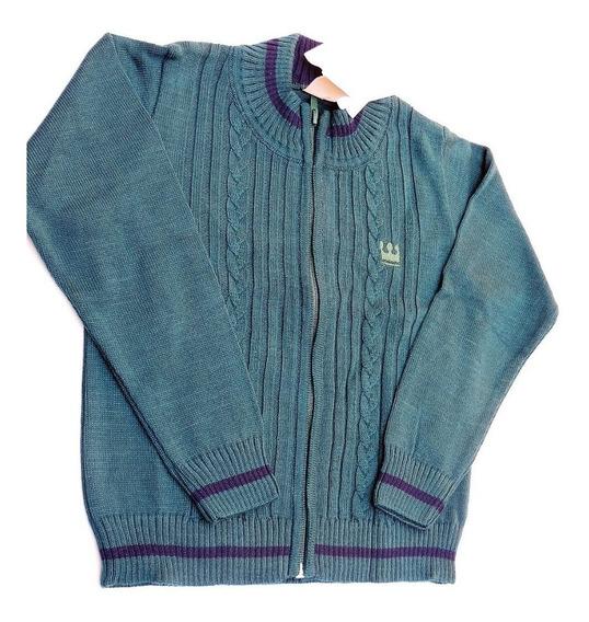 Jaqueta Suéter Casaco Infantil Masculino Tam.4 Com Zíper