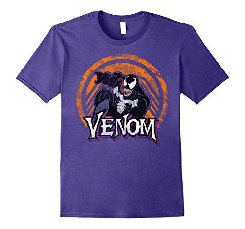 Playera Marvel Venom Leap Con Logo Naranja Oficial Ligera