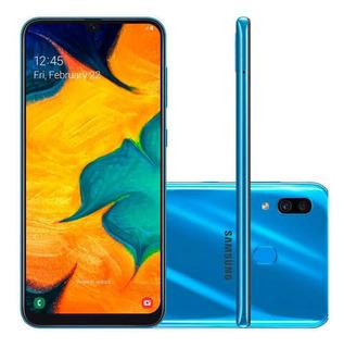 Samsung Galaxy A30 Azul 64gb Dual.chip Barato Usado