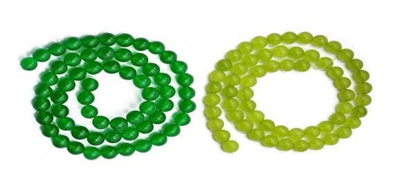 2 Pcs Natural 6mm Verde Jade Pedra Preciosa Redondo Solto Mi